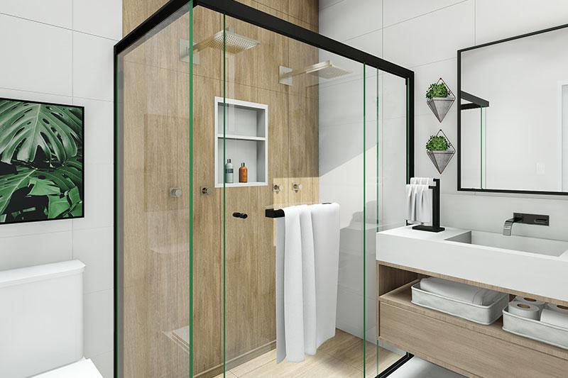 Banheiro da suíte de casal