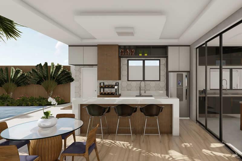 Área  gourmet moderna