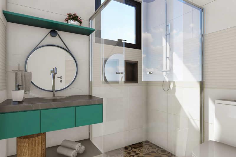 Banheiro para piscina