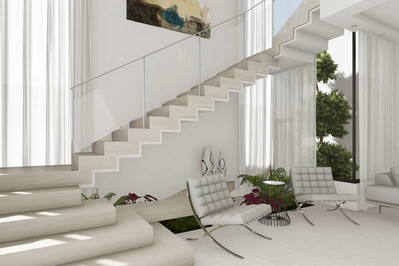 Escada interna moderna