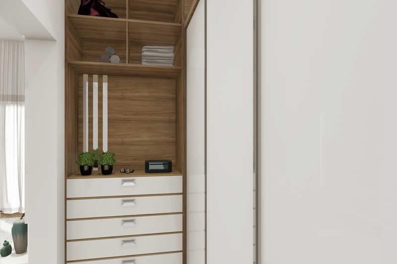 Closet com portas e gaveteiro