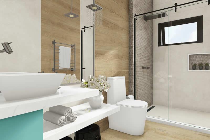 Banheiro com bancada