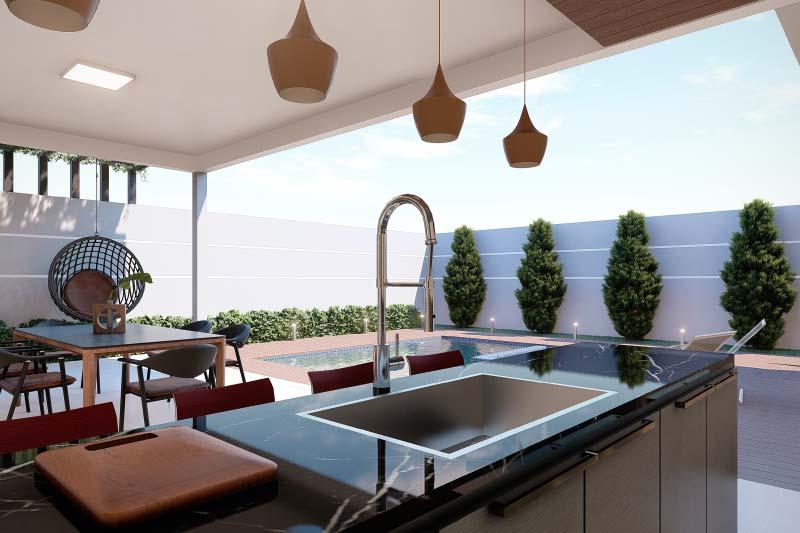 Área Gourmet com mesa