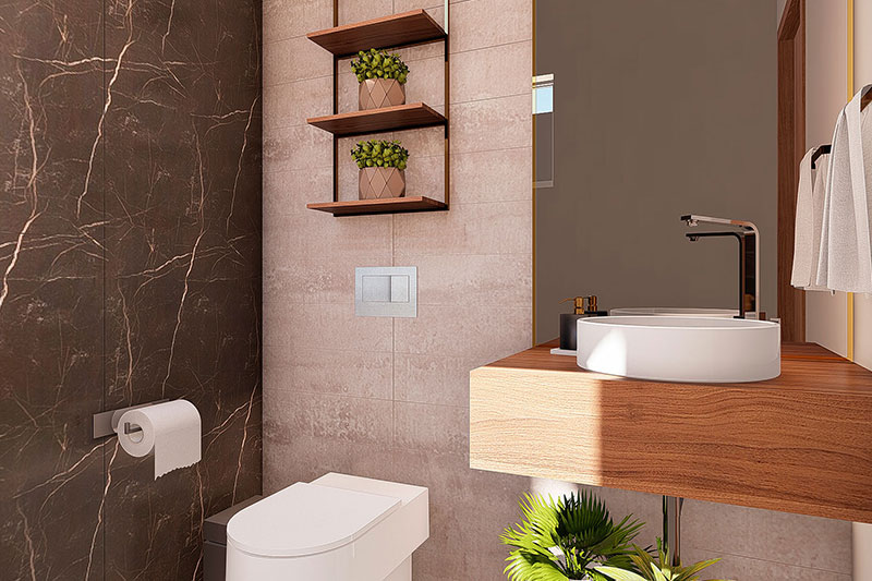 lavabo com revestimentos de alto padrão