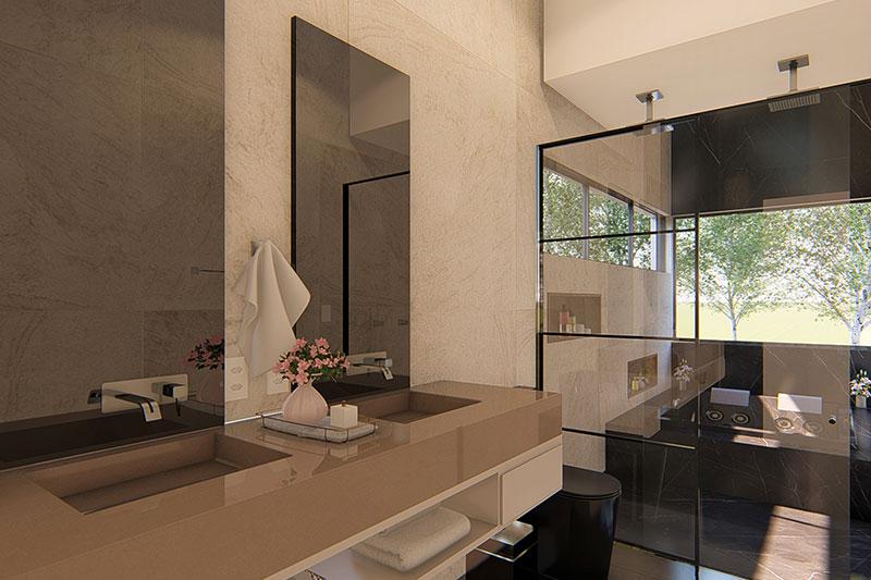 Banheiro com jacuzzi