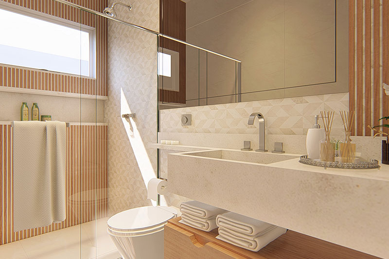 Banheiro suíte moderno