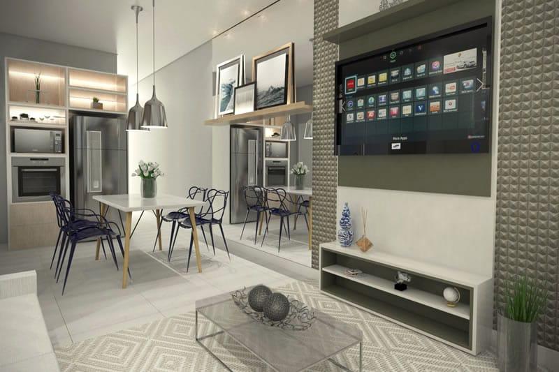 Casa com ambientes integrados