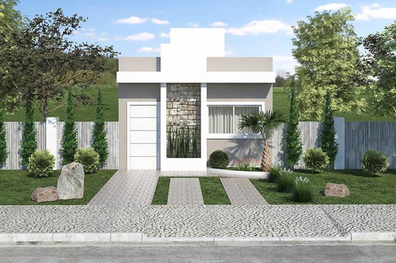 planta de casa popular com 3 quartos projetos de casas On casa popular