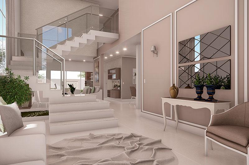Sala de estar neoclássica