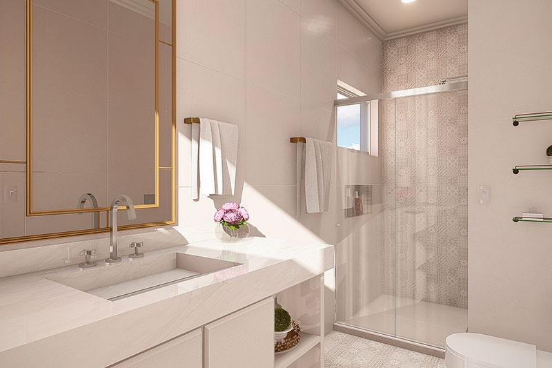 Banheiro clean branco