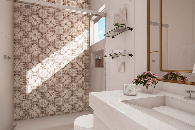 Banheiro neoclássico