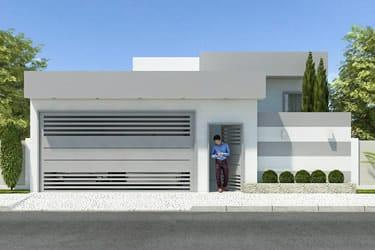 Casas com platibanda for Casa moderna flooring