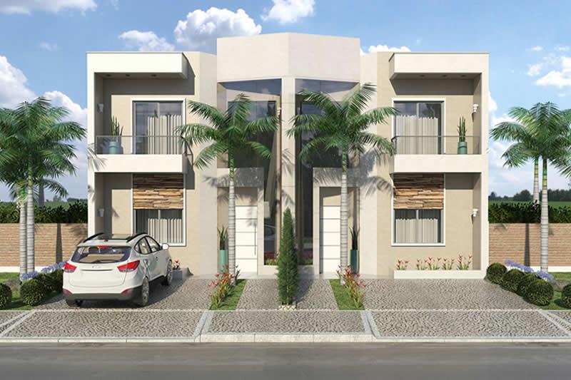 Planta de sobrado geminado com 3 quartos projetos de for Casa moderna 90m2