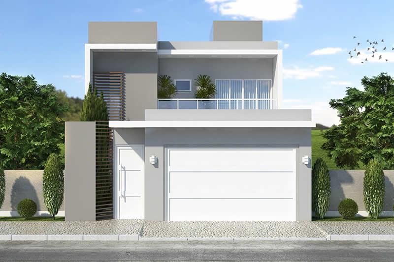 Planta de sobrado com varanda gourmet projetos de casas for Casa moderna 9 mirote y blancana