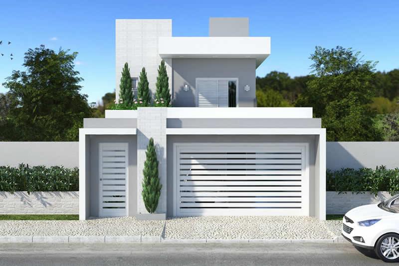 Planta de casa com 3 quartos com sacada projetos de for Fachadas de casas modernas de 2 quartos
