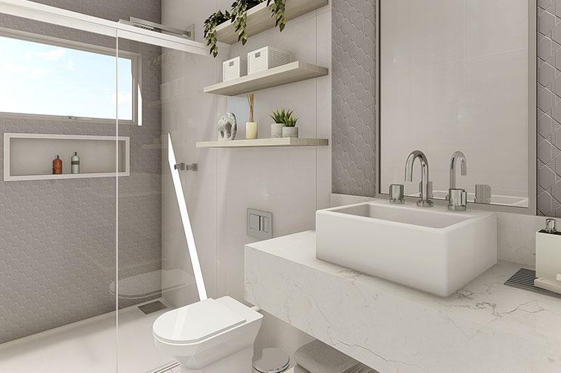 Banheiro moderno clean