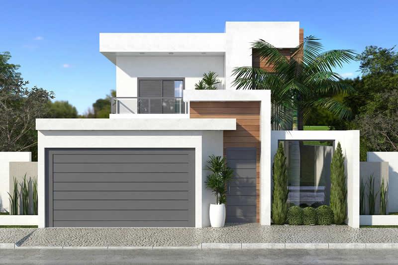 Planta de sobrado com mezanino na sala projetos de casas for Casa moderna 80m2