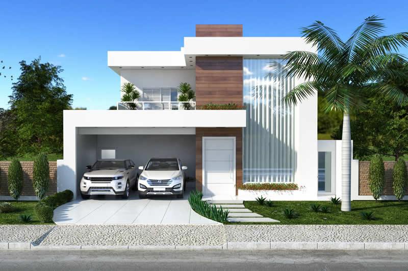 Planta de casa clean projetos de casas modelos de casas for Casa moderna 7x20