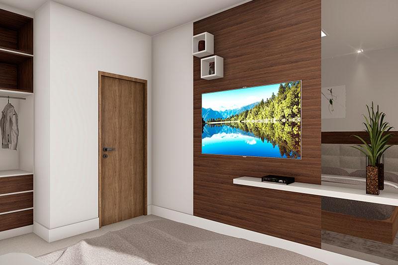 Painel de madeira para quarto