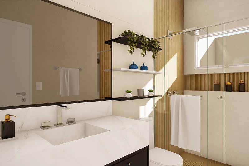 Banheiro com nicho