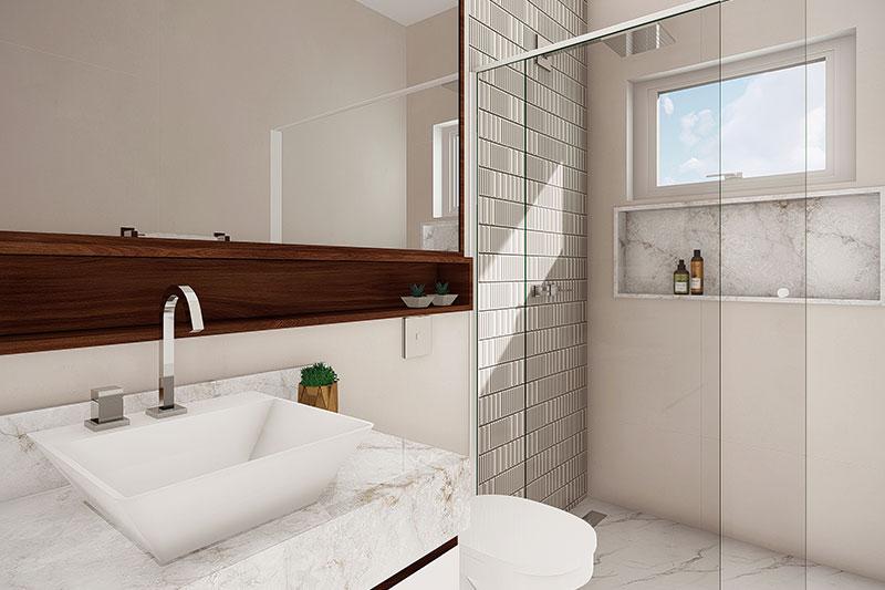 Banheiro com cuba moderna