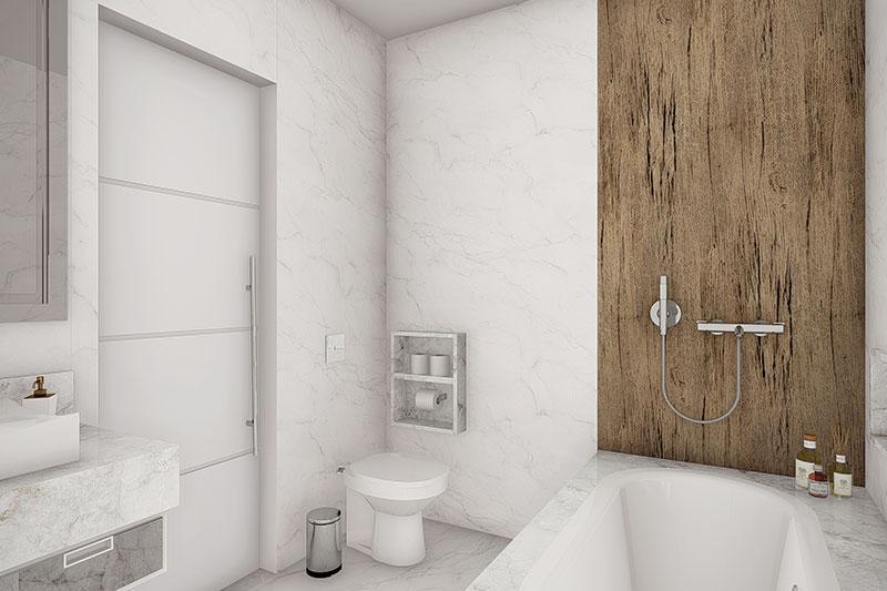 Banheiro com banheira hidromassagem