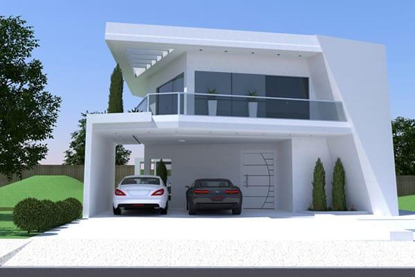 Casa grande e sofisticada