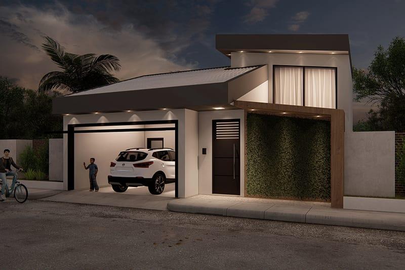 Projeto de casa térrea funcional