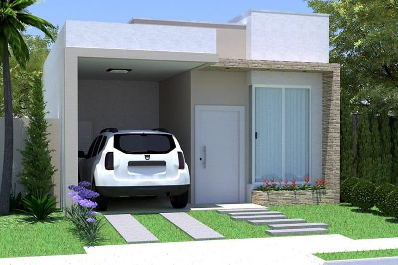 Planta de casa simples com garagem projetos de casas for Casa moderna numero 2
