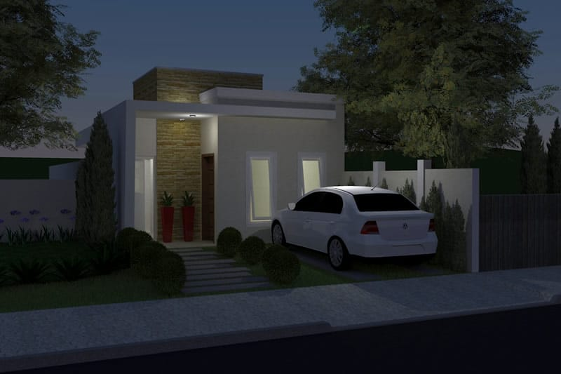 Planta de casa simples e moderna