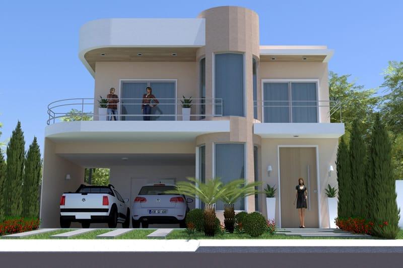 Planta de sobrado moderno pequeno projetos de casas for Diseno de casa de 10 x 20