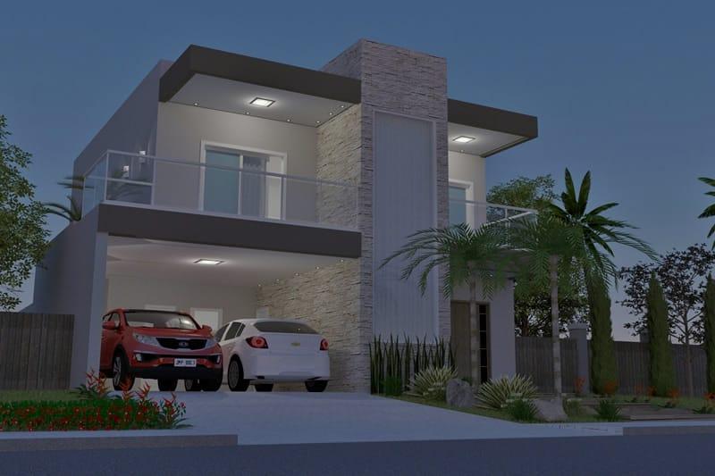 Casa com dois andares