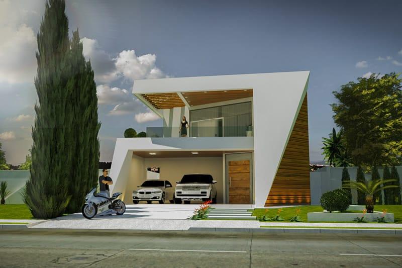 Projeto de sobrado com design inovador