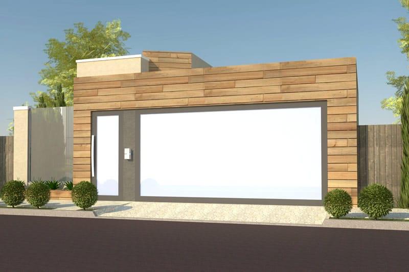 Planta de casa com fachada de madeira projetos de casas for Modelo de fachadas de viviendas