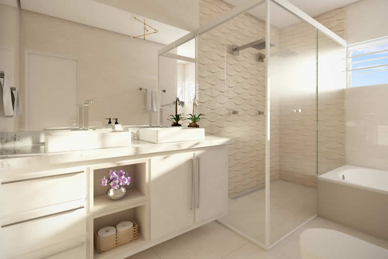 Banheiro grande e bonito