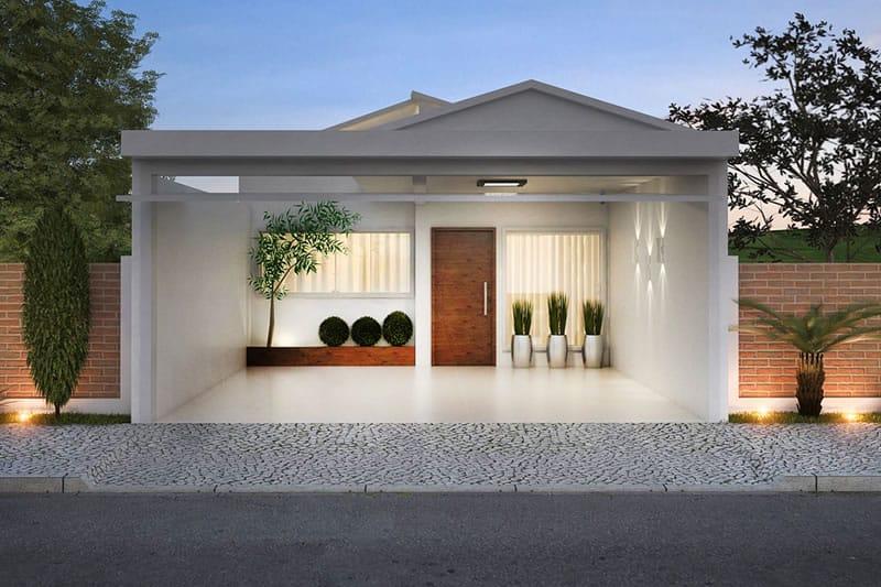 Planta de casa pequena e moderna