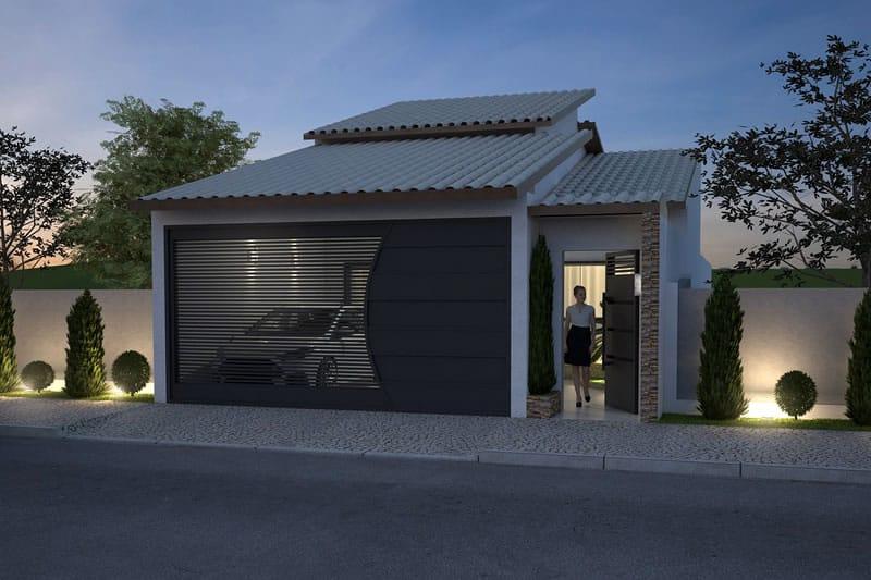 Planta De Casa Para Terreno De 7x20 Metros Projetos De