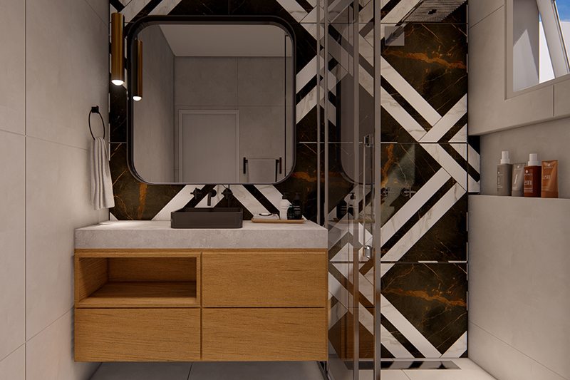 Quarto branco com cama de casala