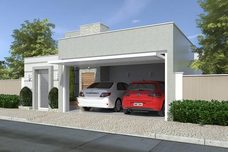 Casa simples com garagem