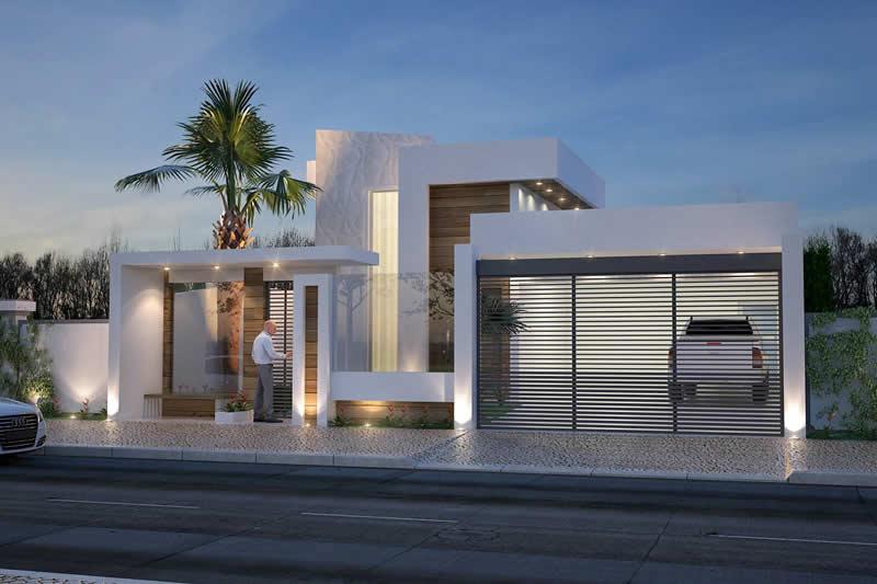 Modelo de casa residencial para rua