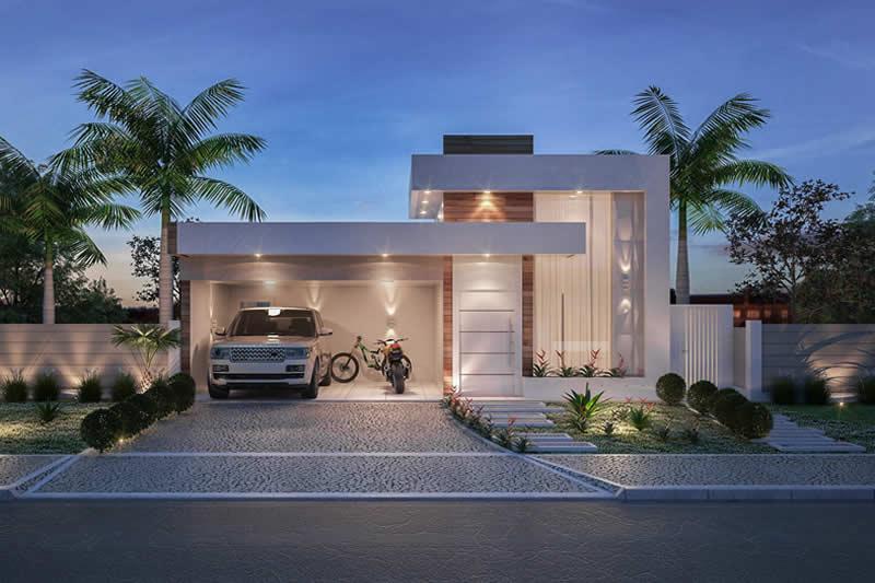 Planta de casa com cozinha integrada projetos de casas for Casa minimalista una planta