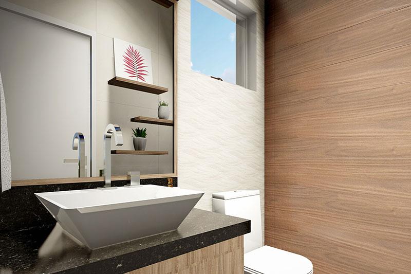 Banheiro área gourmet