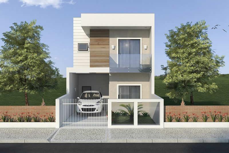 Planta de sobrado pequeno e moderno projetos de casas for Casa moderna 6 00 m x 9 00 m 2 pisos interior